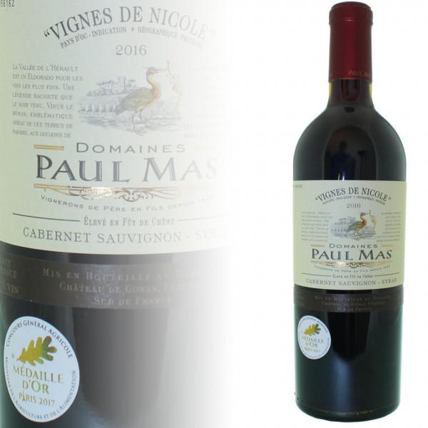 Paul Mas Vignes de Nicole Cabernet / Syrah