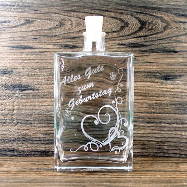 Flasche zum Geburtstag Herzen