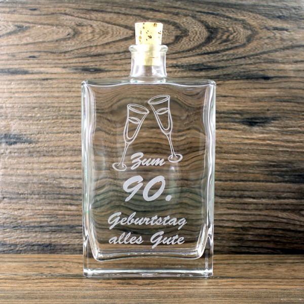 Flasche zum 90. Geburtstag