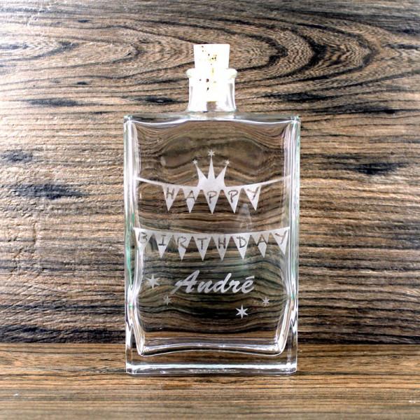 Flasche Happy Birthday mit Name