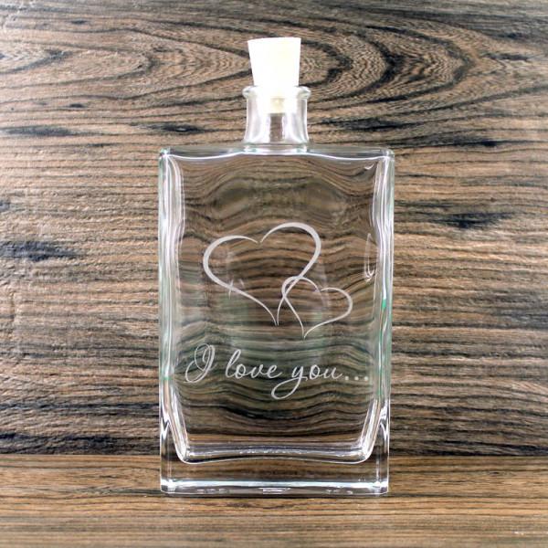 Flasche I love you