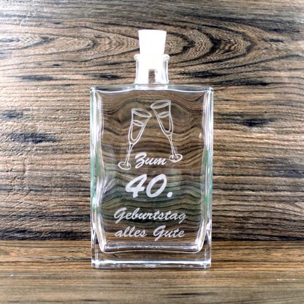 Flasche zum 40. Geburtstag