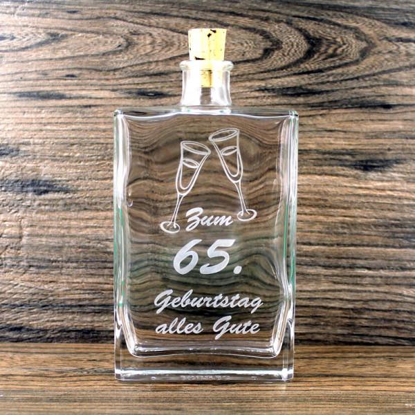 Flasche zum 65. Geburtstag