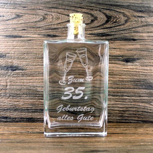 Flasche zum 35. Geburtstag