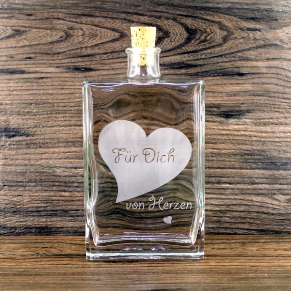 Flasche für Dich von Herzen