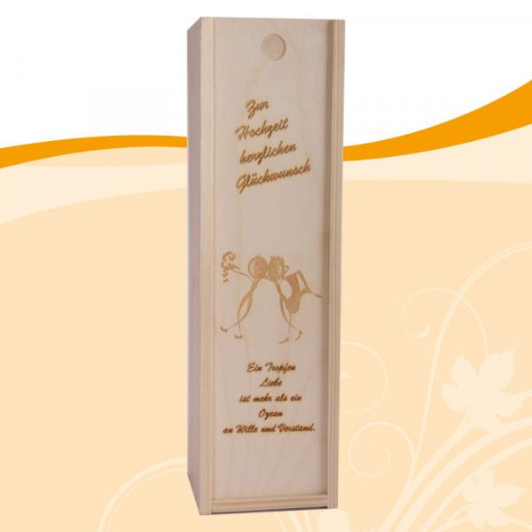 Holzkiste zur Hochzeit Hochzeitspaar