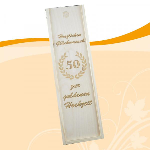 Weinkiste zur goldenen Hochzeit